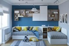 Twins Quattro Studio is part of Kids bedroom - Kids Bedroom Designs, Kids Bedroom Sets, Kids Bedroom Furniture, Small Room Bedroom, Boys Room Decor, Girl Room, Bedroom Decor, Wooden Bedroom, Child Room