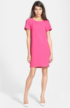 Wayf Crepe Shift Dress available at #Nordstrom Also cute in orange! Spring/summer weddings?