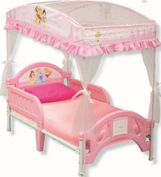 Disney Princess Canopy Bed available from Walmart Canada. Buy Baby online for less at Walmart  sc 1 st  Pinterest & Delta Childrenu0027s Products Disney Princess Toddler Bed with Canopy ...