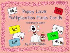 $3 Susan Hardin's Puppy Love Multiplication Flash Cards and Board Game