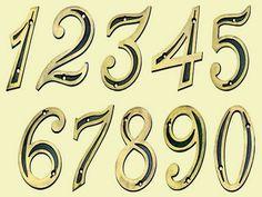 83178-Números residenciais de 0 a 9-União Mundial