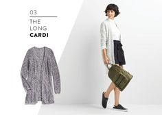 Love the long cardigan, multipurpose and gives a finished look.