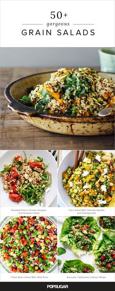 """50+ Gorgeous Grain Salads You'll Want to Pack For Lunch"" -- Click through for photos and recipe links for 50+ unusual grain-based salads."