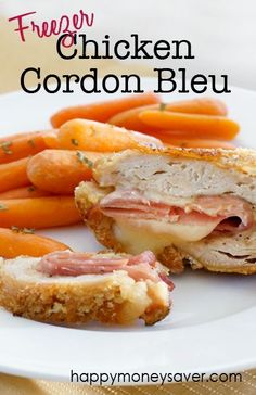 Simple instructions on how to make cordon bleu. This recipe is super easy and delicious! It also makes a perfect freezer meal for those busy nights! | happymoneysaver.com