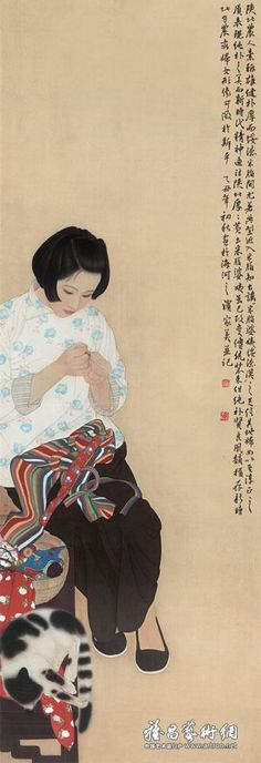untitled picture by He Jiaying Taiwanese Tianjin, Japanese Painting, Chinese Painting, Art Through The Ages, Art Asiatique, China Art, Illustration, Japanese Artists, Art Techniques