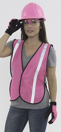 Hi Viz Pink Safety Vests