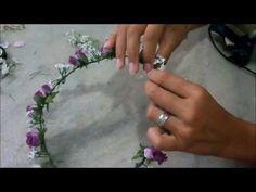 M M DIY: Coroa de flores - YouTube