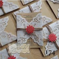 Resultado de imagem para diy wedding invitations with doilies