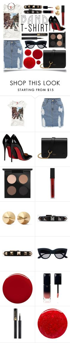 """I'm With the Band"" by ittie-kittie on Polyvore featuring Christian Louboutin, Mulberry, MAC Cosmetics, Smashbox, Eddie Borgo, Valentino, Jin Soon, Clé de Peau Beauté, Lancôme and Nails Inc."