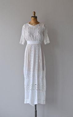 Jefferson House dress 1910s white cotton lawn dress by DearGolden