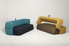 Developed by Croatian furniture maker, Kvadra, this piece of furniture has been designed for restricted spaces, where a sofa also needs to function as a bed.