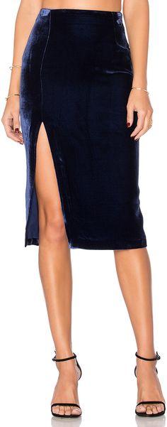 6643ed2d49 KENDALL + KYLIE Velvet Midi Skirt Velvet Midi Skirt, Kendall, Kylie,  Revolve Clothing