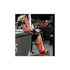 Nikki Bella vs. Charlotte Divas Championship Match photos ❤ liked on Polyvore featuring home and home decor