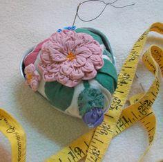 Pincushion Repurposed Vintage Quilt Applique by sammysgrammy, $17.00