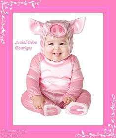 PINK AND PLUSH Miss Cutie Pie Piggy Baby by SocialDivaBoutique, $34.95