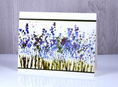 Watercolour stamping with Darkroom Door Wildflowers Vol 2 stamp set. Card by Heather Telford