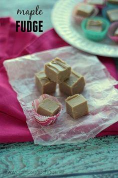 Maple Fudge   recipe on www.crumbsandchaos.net