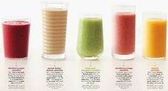 healthy smoothies with nutrition info