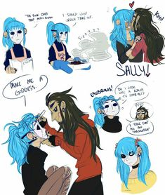 I'm too shy to tag the main tag tbh vwv; but have Larry showering Sal in chest kisses! I imagine Sal is just sensitive all over okay. Prosthetic Face, Sally Man, Creepy Games, Sally Face Game, Comic Anime, Little Misfortune, Larry Johnson, Fanart, Silly Faces