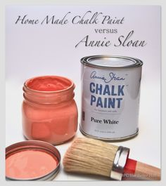 Homemade Chalk Paint vs Annie Sloan - OPC The Better Half - may have to try this one (ASCP is SO expensive. great, but expensive)