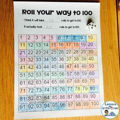 100th day of school dice game