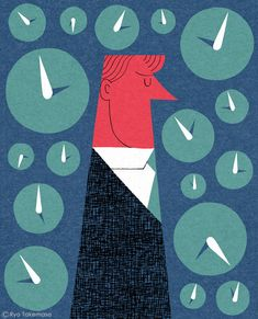 Illustration for a feature on patience in Real Simple Magazine, May 2014 issue.
