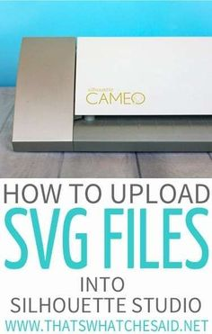 Easily add SVG files, patterns, and images into Silhouette studio to use with your Silhouette cutting machine! Quick step by step tutorial. Silhouette Cameo Software, Silhouette Cameo Tutorials, Silhouette Cutter, Silhouette Cameo Machine, Silhouette Vinyl, Silhouette Projects, Silhouette Files, Silhouette America, Silouette Cameo Projects