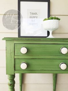 Tavern Green (Old Fashioned Milk Paint Co.) table painted by Amanda of Ferpie and Fray