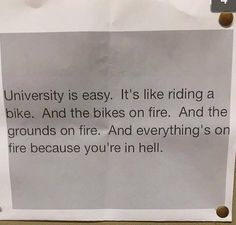 University Is A Piece Of Cake Right?