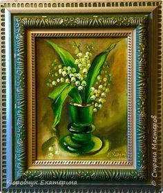 Картина панно рисунок День защиты детей Рисование и живопись Ландыши холст масло Краска фото 5