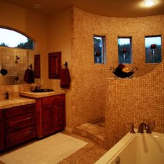 Perfect! Open shower and tub. Must have in my home