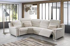TOUT est possible : canapé deux places, canapé trois places, canapé angle ou avec méridienne...  Tousalon Vasto : Canapé d'angle cuir blanc.  Vous pouvez choisir la composition, le revêtement, la couleur, le confort, les coutures, les accoudoirs, les options relaxation, têtières, couchage...