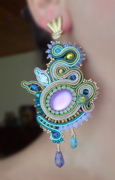 Soutache earrings by Serena Di Mercione (inspired by a design of Miriam Shimon)