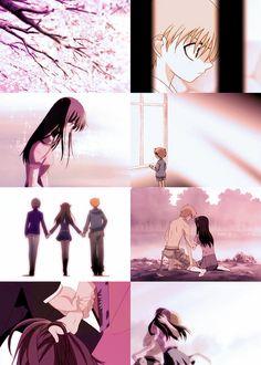 Fruits Basket- Kyo and Tohru Fruits Basket Quotes, Fruits Basket Anime, Kyo And Tohru, Let's Stay Together, Version Francaise, Image Manga, Angel Beats, Kaichou Wa Maid Sama, A Silent Voice