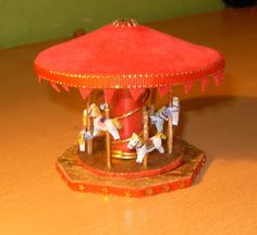 My first MINIATURES: How to make a Carousel - Spanish