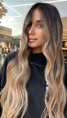 Brown To Blonde Ombre Hair, Blonde Hair Looks, Brown Hair Balayage, Brunette To Blonde, Hair Color Balayage, Wedding Themes, Wedding Colors, Medium Thin Hair, Gorgeous Hair Color