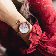 Frühlingsgefühle mit der Flower Rosé Mesh   #juliejulsen #juliejulsenwatch #uhr #damenuhr #blumenuhr #flowerdial #roséuhr