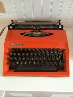 Vintage Typewriter - Contessa. I'm not sure how this fits but I just want typewriters involved somehow