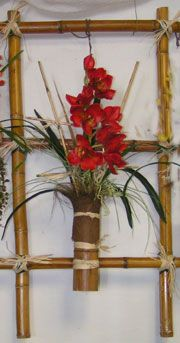 This comes from a website that has some interesting information about ikebana- its history, styles, etc.