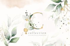 Watercolor & Gold Leaves Collection This set include: 4 PNG - frames and wreaths 24 PNG - herbal arrangements 27 PNG - herbal alphabet 28 backgrounds - 6 JPEG and 22 PNG 35 PNG - floral elements 2 PNG - seamless patterns Font Design, Design Blog, Graphic Design, Design Set, Web Design, Motif Floral, Arte Floral, Floral Design, Png Pack