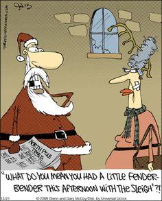 The Flying McCoys by Glenn and Gary McCoy ~ Christmas Humor ~ Santa