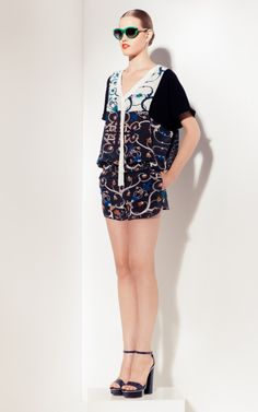 Peter Som vine print blouse & shorts