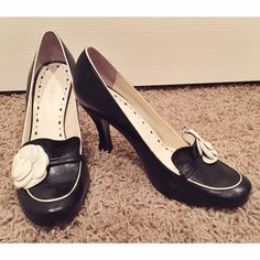 BCBGirls Camellia Heels BCBGirls camellia heals in near perfect condition. Worn once to an event then never again. No scratches on the surface. Fit true to size! BCBGirls Shoes Heels