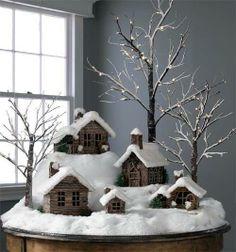 Rustic Christmas Village