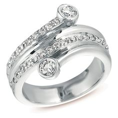 14k White Gold .67 Dwt Diamond Right Hand Ring – JewelryWeb | Your #1 Source for Jewelry and Accessories