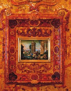 Amber panel with Florentine mosaic picture (allegory of Sense of Taste)