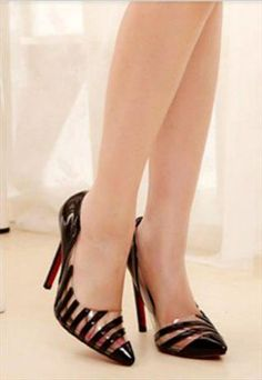 Sexy Stripes Stiletto High Heel Shoes