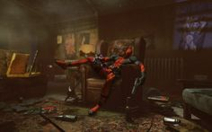 Here's the latest batch of Deadpool screens and concept art. Comic book writer Daniel Way will be penning the game's story. And the game will be breaking the fourth wall next year, when it's released next year on the Xbox 360 and the PC. Dead Pool, Deadpool Movie, Deadpool Videos, Deadpool Photos, Deadpool Background, Deadpool Wallpaper, Game Concept Art, Marvel Entertainment, Museums