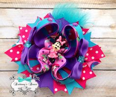 Minnie Inspired OTT Hair Bow on Etsy, $13.00