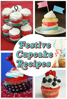 diy home sweet home: Celebrate the 4th with these festive cupcake recipes.